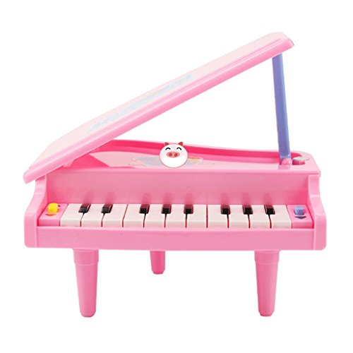 DUWEN Keyboard Children's Keyboard 11 Keys Pink Cartoon Piano Enlightenment Toys by DUWEN