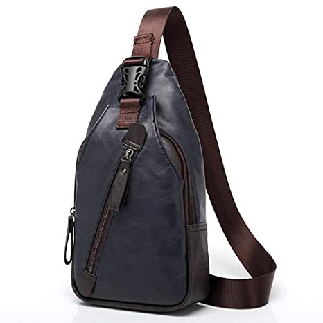Amazon.com: Men Backpack Bag Design Mochila Travel Leather ...
