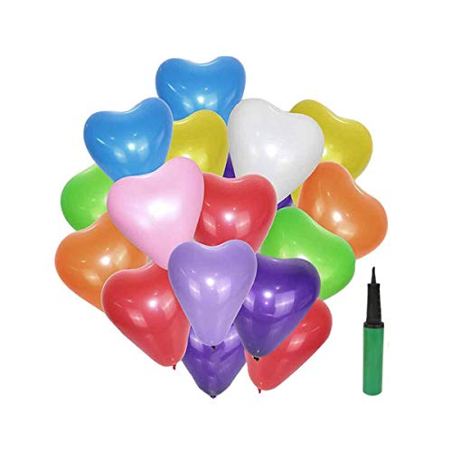 Hengtongtongxun Green Dragonfly Balloon Wedding Birthday Valentine's Day Romantic Proposal Heart Shaped Color 100 Pack Gift Pump (Size : 12)