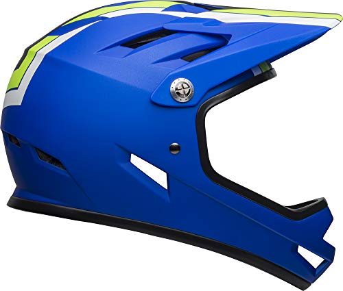 Bell Sanction Adult Full Face Bike Helmet (Agility Matte Blue/Green (2019), Large) (Best Mtb Helmet Light 2019)