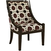 Powell Mulberry and Grey High Back Accent Chair, 20-1/2-Inch