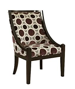 Amazon Com Powell Mulberry And Grey High Back Accent