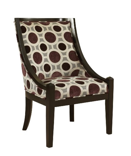 Powell Mulberry and Grey High Back Accent Chair, 20-1/2-Inch Review
