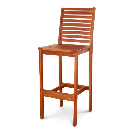 VIFAH V495 Outdoor Wood Bar Chair by Vifah