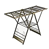 YXLONG Clothes Airer Clothes Line Clotheshorse Metal Aluminum Alloy Laundry Drying Rack Foldable Dryer for Indoors and Outdoors Laundry Drying Rack,Champagne