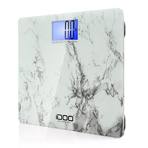 IDOO Precision Digital Bathroom Scale 440lb 200kg 19 inch Oversize Jumbo Steady Platform