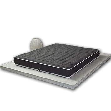 Pure Latex Wave Colchón 100% látex Black Label 90 x 190 cm/Estructura Transpirable monobloque tecnología Dunlop - 7 Zonas, Negro, 90x190 cm - Ferme: ...