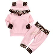 Askwind Baby Girls Floral Hoodie+ Floral Pant Set Leggings 2 Piece Outfits (18-24 Months, Pink2)