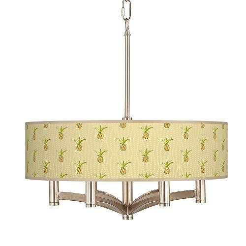 (Pineapple Delight Ava 6-Light Nickel Pendant Chandelier - Giclee Glow)
