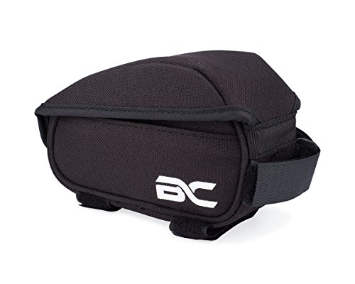 Bicycle Top Tube Bag by BC Bicycle Company - Flip Top Opening for Quick Access to Nutrition and Other Cycling Essentials. Attaches Below Stem and to Top Tube of Bike Frame