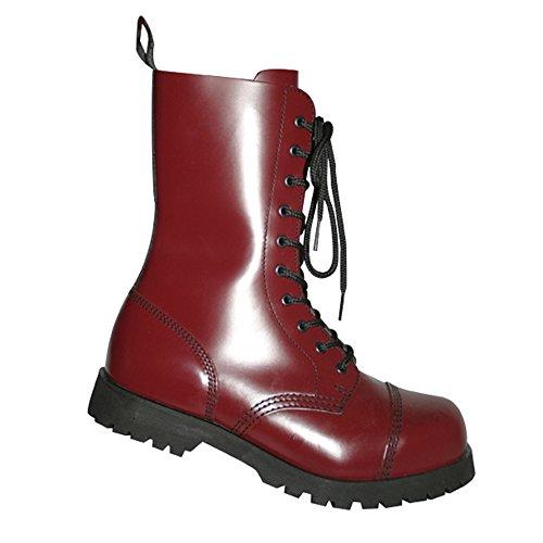 Rangers Ciliegia Colore amp; 10 Anfibi Occhielli Boots Braces Cherry Rosso 8EBw7xUq