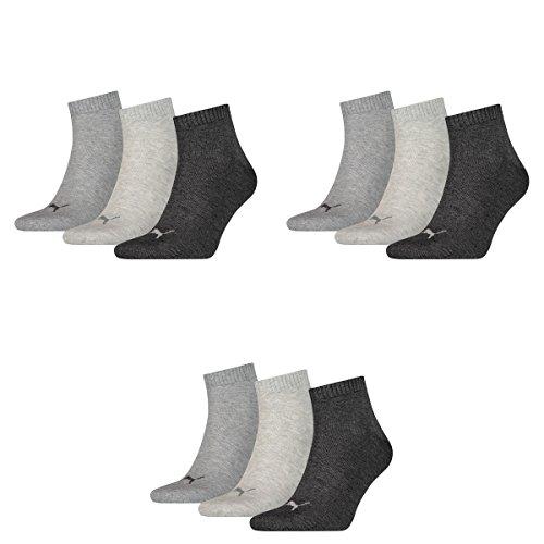 3 pair Puma Sport Socken Short Crew Tennis Socks Gr. 35 - 49 Unisex 800 - anthraci/l mel grey/m me