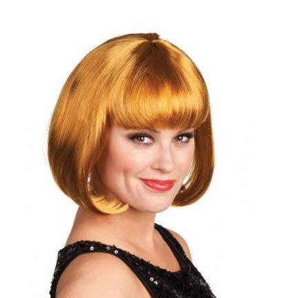 Oro Bob peluca de pelo lacio CABARET disfraces de carnaval de Nochevieja Charleston disfraz Rubio: Amazon.es: Juguetes y juegos