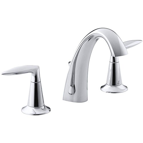 KOHLER K-45102-4-CP Alteo Widespread Lavatory Faucet, Polished Chrome (Polished Chrome Accessory Stem)