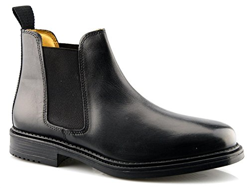 Roamer Mens Leather Boots Black 7fHR54w