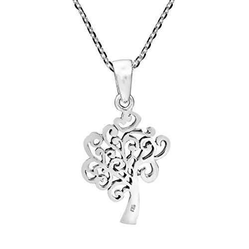 The In 925 Of Tree Life Wind sterling Collana argento Resistance in 15Awdq1