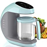 Baby Food Maker Chopper Grinder - Mills and Steamer 7 in 1 Processor for Toddlers - Steam, Blend, Chop, Disinfect, Clean, 20 Oz Tritan Stirring Cup, Touch Control Panel, Auto Shut-Off, 110V Only