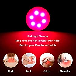 Near Infrared Red Light Therapy Device Deep 660nm LED for Skin Joint & Muscle Reliever, Improve Skin Texture Stepless Dimming Portable Memory Function and Rechargeable Design