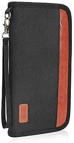 パスポートケース スキミング防止 アコーディオンデザイン 家族 国内海外旅行用品 四つのパスポート 通帳ケース 航空券 紙幣 カード 小銭 ペン 鍵など収納可 大容量 トラベルウォレッド パスポートバッグ ポーチ