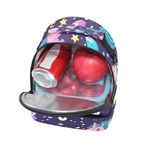 pour Alinlo l'école Pincnic lunch Cooler Tote bandoulière isotherme réglable Licorne à Sac avec à Boîte mignonne 7HxZq7war