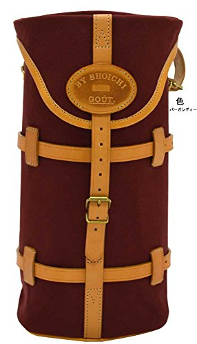 グーワタナベ(guu-watanabe) 帆布 サドルバッグ ミニベロ 工具いれ 筒型 Mサイズ バーガンディー   B00Q0OC4SQ