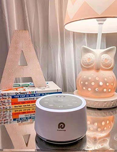 Dreamegg D1 Sound Machine - White Noise Machine with Baby Night Light for Sleeping, High Fidelity Sounds, Timer & Memory Feature, Sound Machine for Baby Adults, Home, Office, Travel (White)