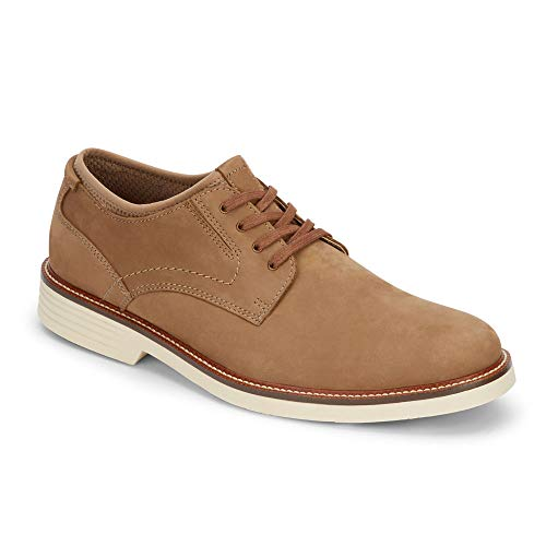 Dockers Mens Parnell Alpha Leather Dress Casual Oxford Shoe with NeverWet, Dirty Buck, 8 M]()