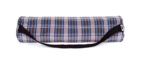 The Tasteful Plaid Yoga Bag (gray)
