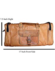 Handcraft Victor Leather Rectangular Holdall Duffel Gym Bag
