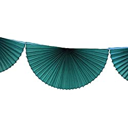 3-pack 7 Foot Tissue Paper Bunting Garland Party Decoration (Teal Green)