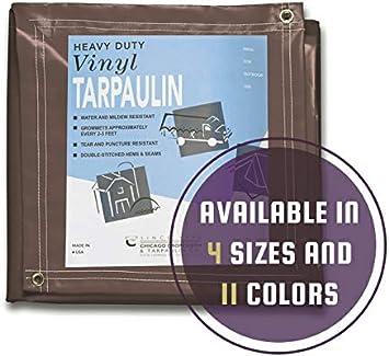 12 x 20 CCS CHICAGO CANVAS /& SUPPLY Brown Canvas Tarpaulin