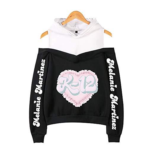 De.Pommeyeux Melanie Martinez off-shoulder hoodie sweatshirt hiphop meisje streetwear K-12 pullover met capuchon