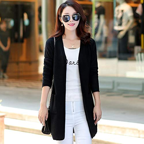 Jacket Tops Slim Autumn Coat Long Long Knitted Cardigans XCXKA Cardigan Long Spring Women 1nZpt7wqO