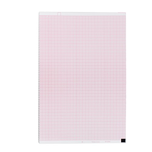 Nihon Kohden Compatible PA9100Z Medical Cardiology Recording Chart, 1 Pack, Size 8.5