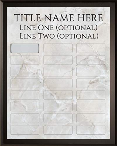 Employee of The Month DIY Perpetual Silver Marble Plaque Magic Recognition Award Kit - 24 Plate Model - Fully Customizable - Salesperson of The Month - No Engraving Needed Do It Yourself
