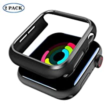 SPORTLINK Apple Watch Case 40mm for Series 4/ Series 5 - Shockproof Anti-Scratch Thin Bumper Matte Hard Cover Case for iWatch Series 4 2018/ Series 5 2019 Edition (2 Pack)