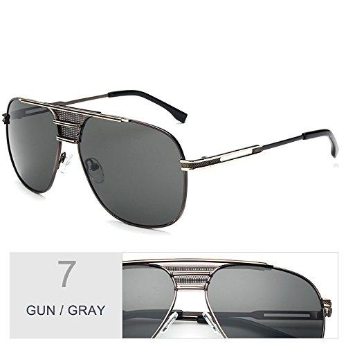 sol Gray por hombre UV400 el Gun Gafas sol aviador Vintage gafas piloto de Sunglasses atrás negro TL de azul UqS8F7nYS