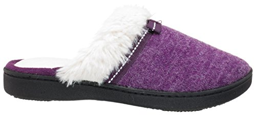 Isotoner Womens Chiné Milly Sabot Majestueux Violet