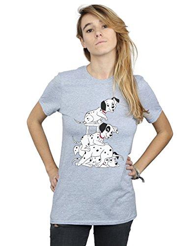 Disney Women's 101 Dalmatians Chair Boyfriend Fit T-Shirt Sport Grey Large]()