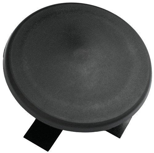 "3"" Round Light Pole Top Cap- Black Plastic"