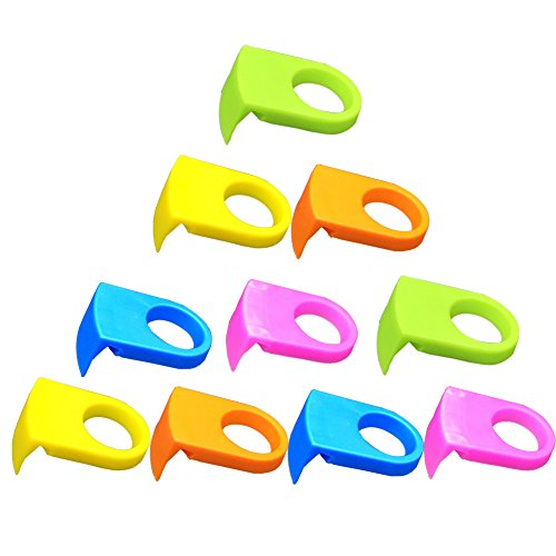 Ozzptuu 10pcs ABS Drink Clips Bottle Buckle Holders Beer Cocktail Snap for Schooner & Goblet Glasses (Random Color)