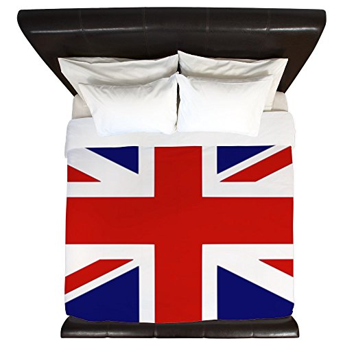 CafePress - British Flag Duvet Cover - King Duvet Cover, Printed Comforter Cover, Unique Bedding, Microfiber
