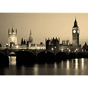Poster Photo de Londres 90x64 cm