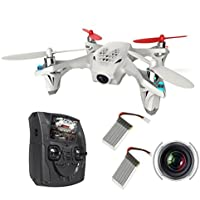 Hubsan H107D with 2 pcs Extra Batteries FPV X4 Drone 480P Camera Live Video 5.8GHz Quadcopter with Protection Cover Mode 2 RTF