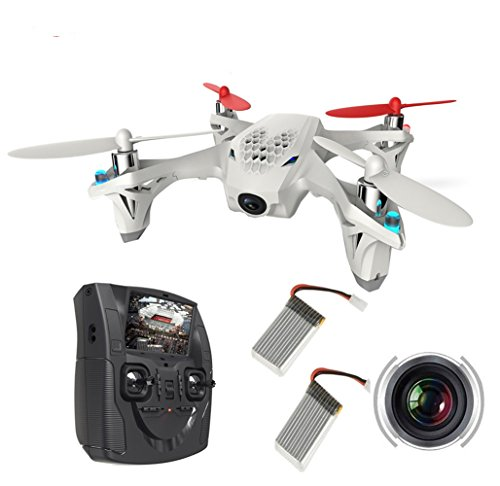 AICase HUBSAN H107D X4 Quadcopter with FPV Camera Controller + Extra 2pcs Battery, BNF FPV Live Video Mini Quad Copter Drone