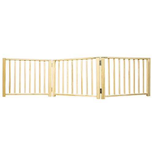 Four Paws Pet (Four Paws Expandable Dog Gate, Wood Gate for Dogs, 3-Panel)