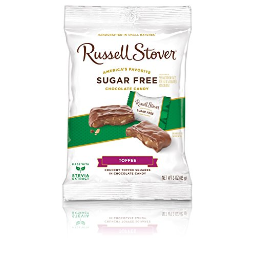 Russell Stover Sugar Free Toffee Squares, 3 oz. Bag