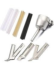 4 st rund triangel Y-format munstycke för svetsning plast varmluftspistol kit för hastighet svetsmunstycke spets +20 st plastsvetsstänger