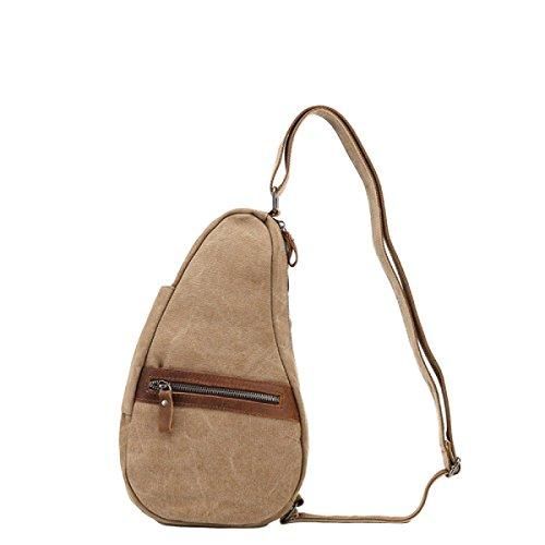 Shoulder Bag Messenger Bag Canvas Bag Sports Outdoor Leisure Fashion Retro Brown