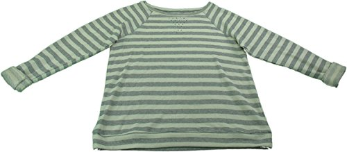 Ellen Tracy Company Ladies Medium Embellished Sweatshirt (Gray Stripe )